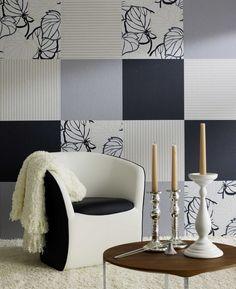 4 zueinander passende Tapeten aussuchen und als Collage tapezieren. Foto: Marburger Tapetenfabrik