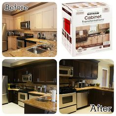 Rustoleum Cabinet Transformation. Toasted Almond with glaze ...
