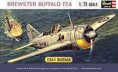 Plastic Model Kits, Plastic Models, Brewster Buffalo, Toys In The Attic, Monogram Models, Revell Monogram, Model Cars Kits, Ww2 Aircraft, Aviation Art