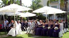 Wedding guests at Hotel Tamisa Golf, Mijas Costa, Spain.