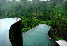 De todos los hoteles que conozco, este es mi favorito! Ubud Hanging Gardens Hotel. Impresionante.