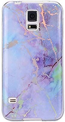 online store d3d51 24906 Amazon.com: Galaxy S5 Case,IKASEFU Bright IMD Pink Purple Marble ...