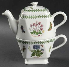 Portmeirion Botanic Garden at Replacements, Ltd Tea For One, My Cup Of Tea, British Tea Time, Portmeirion Pottery, Tea Pot Set, Tea Caddy, Teapots And Cups, Coffee Set, China Patterns