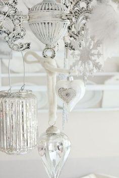 White & silver decorations