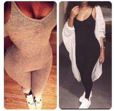 pants grey clothes onesie bodysuit black grey leggings black leggins sweater romper rompers jumpsuit
