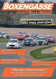 Fünfte Ausgabe zum Rennen am Red Bull Ring 22.-24. Juli 2016 - DTC - ADAC PROCAR Rennen 9   10 Dedicated to drivers…