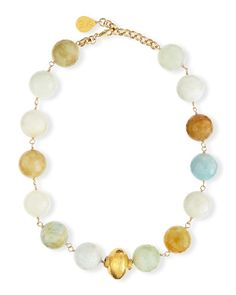 Devon Leigh Faceted Aquamarine Single Strand Necklace