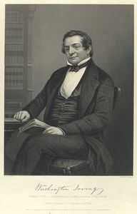 Washington Irving (autograph). Likeness from a daguerreotype, in the possession of his family.