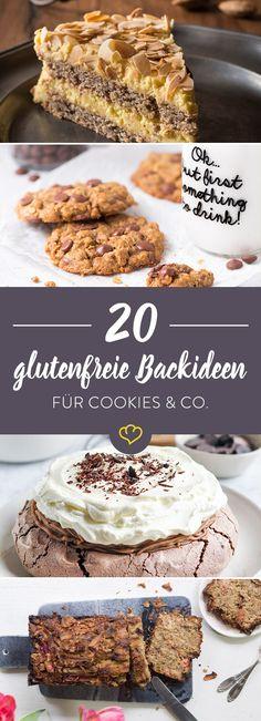 Von süßer Quark-Erdbeer-Torte bis saftigem Schokokuchen verbreiten diese 20 Backprojekte nichts als puren Genuss - ganz ohne Gluten.