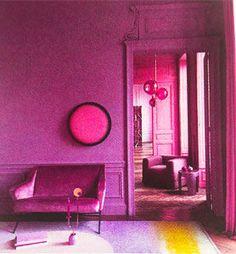 Le Violet, une couleur de Prince | leszateliers Violet, Decoration, Prince, Neon Signs, Color, Dekoration, Decorating, Deco, Deko