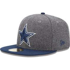 frustrating team, cool hat—Men's New Era Dallas Cowboys Melton Basic 59FIFTY® Structured Fitted Hat