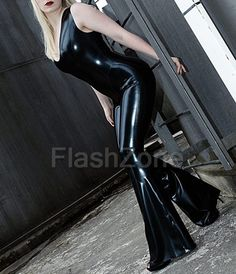Fetish Fashion, Latex Fashion, Wet Look Leggings, Platform High Heels, Skin Tight, Catsuit, Flare Jeans, Bell Bottoms, Lego