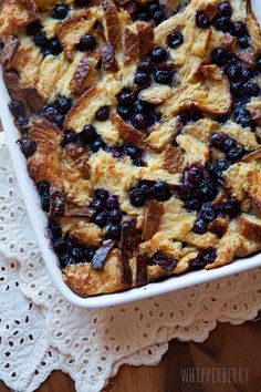 Blueberry Lemon Overnight French Toast using the Vanilla Silk Soy Milk and Gluten Free Bread. #glutenfree-#dairyfree-#whipperberry