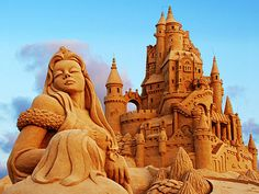 Sand castle sculpture