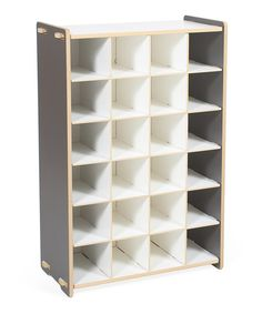 Look at this Gray Progressive Shoe Cubby Shelf on #zulily today!