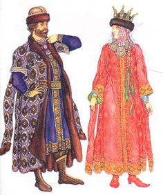 Russian or Polish medieval clothing