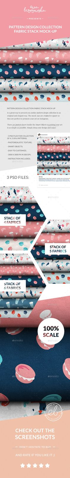 Pattern Design Collection Fabric Stack Mock-up - Miscellaneous Apparel