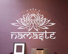 Mandala pared calcomanía vinilo pegatinas Yoga por FabWallDecals