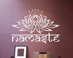 Symbol Yoga Pose Wall Vinyl Decal Yoga Studio by USAmadeproducts