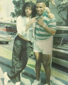 Rick James and Iron Mike Tyson Mike Tyson, Martial, Talons Sexy, Rick James, Photo Star, Black Art Pictures, Vintage Black Glamour, Black History Facts, Black Celebrities