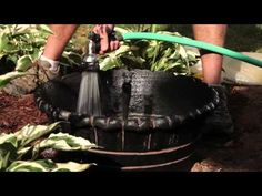 You don't need a ton of space to have a water garden in your yard. Jim Cuneen from the Home Depot Gardenieres shows you how to build an easy water feature with a waterproof container, small pump kit, some rock, and a few water plants.