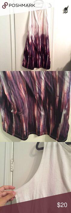 ASOS Tie Dye Ombré Tank T Shirt Shift Dress 14 Size 14 US, very good condition as shown in photos ASOS Dresses Midi