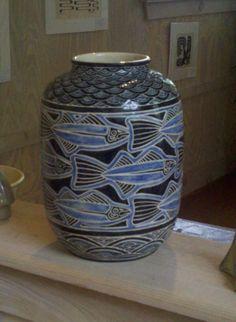 Shearwater Pottery - Tarpon Vase #2 - Adele - Mac Anderson Design - photo taken at Shearwater