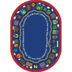 "Kid Essentials - Inspirational Area Rugs Bible Train Multi by Joy Carpets. $209.95. Manufactured to the Highest Quality Available.. Great Gift Idea.. Design is stylish and innovative. Satisfaction Ensured.. Kid Essentials - Inspirational Area Rugs Bible Train Multi 5'4"" x 7'8"" Oval"