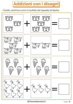 Risultati immagini per domino addizioni entro il Kindergarten Worksheets, Math Activities, Preschool Activities, 2nd Grade Math Worksheets, 1st Grade Math, Phonics Books, Singapore Math, Math Addition, Math For Kids