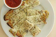 Cauliflower Mozzarella Breadsticks--great for low carb diets! Cauliflower Cheesy Bread, Cauliflower Pizza Bites, Cauliflower Recipes, Cauliflower Breadsticks, Parmesan Cauliflower, Low Carb Recipes, Cooking Recipes, Healthy Recipes, Drink Recipes