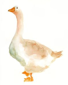 GOOSE Original watercolor painting 8X10inch by dimdi on Etsy, $25.00