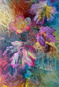 Dance of Color Fine Art Print - Vijay Sharon Govender for Salma wtcolr clingfilm base mixed media on top Pintura Graffiti, Art Amour, Art Watercolor, Watercolor Leaves, Inspiration Art, Country Art, Arte Floral, Medium Art, Love Art
