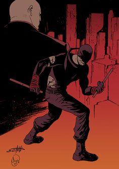 Daredevil and King Pin by Valerio Schiti *