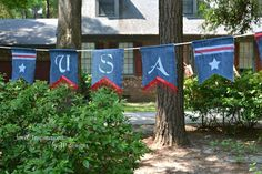 No Sew Patriotic Denim Banner | Hometalk