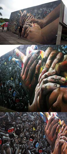 Crazy! Case x Lazoo New Mural In São Paulo, Brazil #graffiti #streetart jd