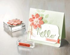 We love this card made with the Crazy About You stamp set and the coordinating Hello You Thinlits.