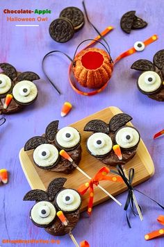 My Owl Barn: Chocolate-Apple Halloween Owls