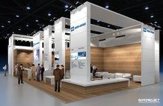 Exhibition stand KNORR-BREMSE by Nick Sochilin, via Behance