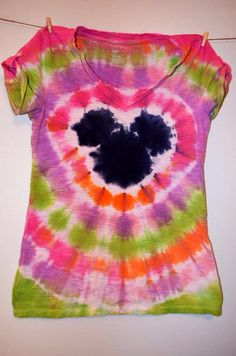 RTS - Women's DISNEY Inspired Tye Dye  - sz SMALL