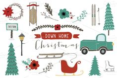 Illustrations ~ Down Home Christmas ~ Creative Market