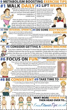 Motivation For Your Weekday Workout 9 Metabolism Boosting Exercise Tips Free Fitness Metabolism Boosting Exercise Tips Free Fitness Tips Boot Camp, Fitness Diet, Health Fitness, Free Fitness, Exercise & Fitness, Fitness Facts, Fitness Exercises, Fitness Logo, Muscle Fitness