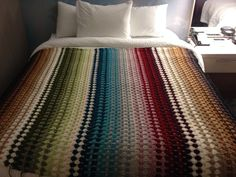 Sara's Granny Stripe Blanket, free pattern by Black Sheep Wools.  Pic from Ravelry Project Gallery   . . . .   ღTrish W ~ http://www.pinterest.com/trishw/  . . . . #crochet #afghan #throw #color #stripes