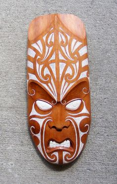 Matt Smiler Male Mask Totara Moko Design $1750 1