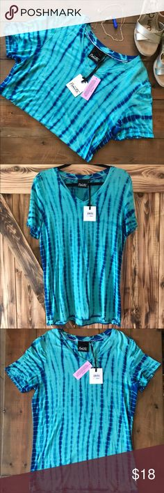Nanette Lepore Blue Tie Die Tee Shirt NWT The softest shirt! Colors of blue tie die by Nanette by Nanette Lepore. It is brand new with tags and ready for a new home! Size small. Nanette Lepore Tops Tees - Short Sleeve