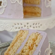 Lavender Chamomile Cake by Miri K (online creative cake recipe winner!)