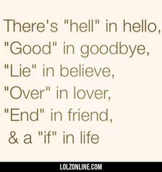 There's Hell In Hello...#funny #lol #lolzonline