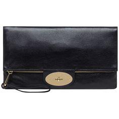 Mulberry Postman's Lock Oversized Clutch Handbag, Black.  LOVE!