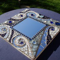 """""""Mosaic Mirror: Winter Abstract Spirals"""""""