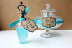 Alice in the Wonderland Wedding Drink Me Party Tags by windrosie~~