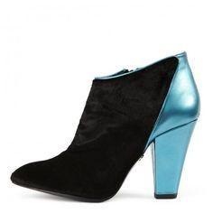 Sapphira #fashion #style #shoes #london #designer #heels #CLEOB #blue #black #boots